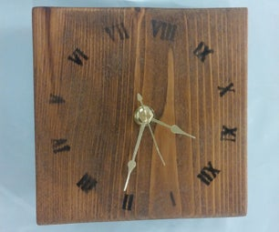 Intro to Woodworking Clock