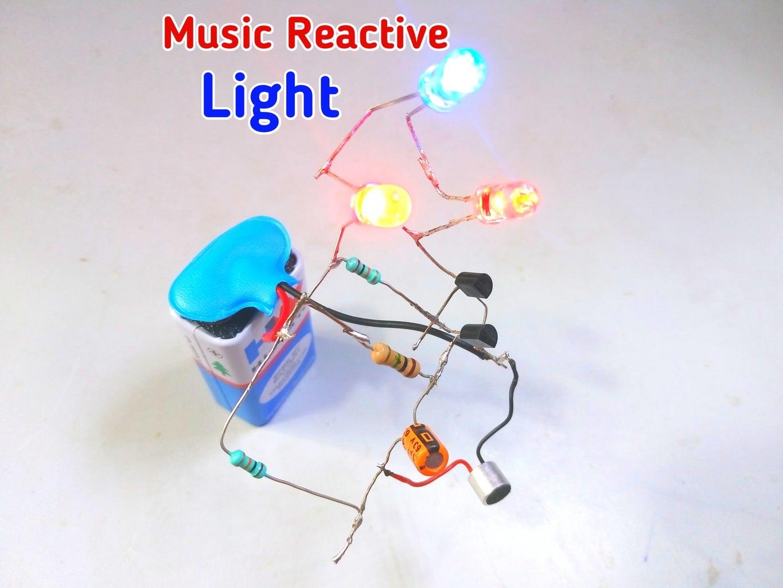 Music Reactive Light Using BC547 Transistor