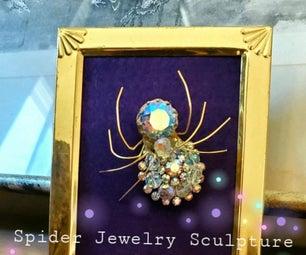 蜘蛛珠宝雕塑装饰
