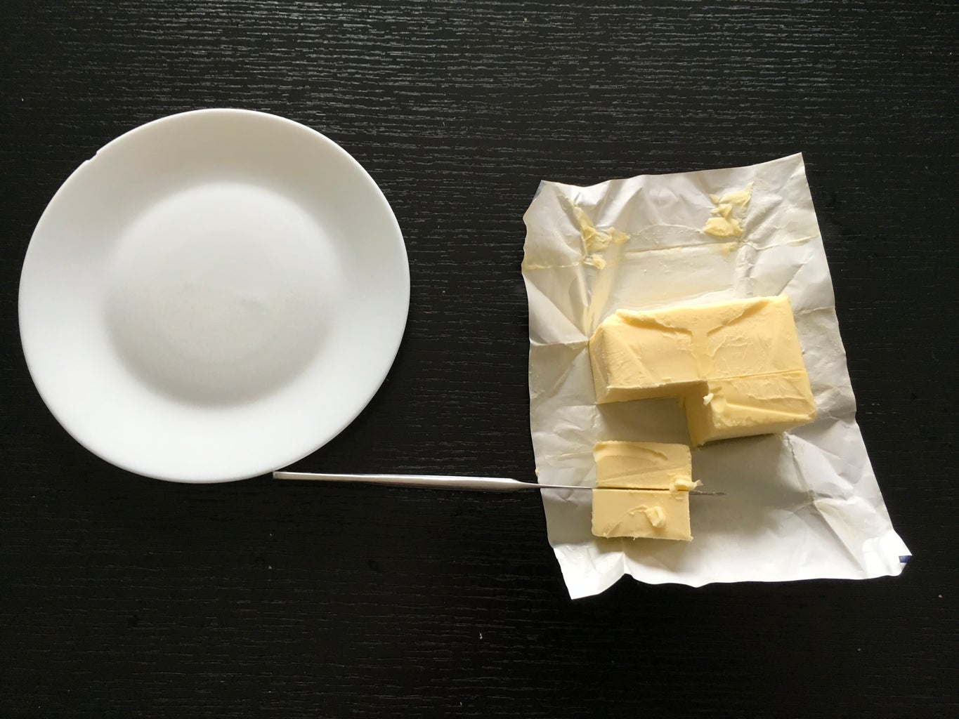 Cutting and Molding the Butter