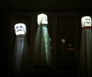 Floating Glowing Ghosts