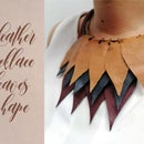 Leather Necklace Leaves Shape
