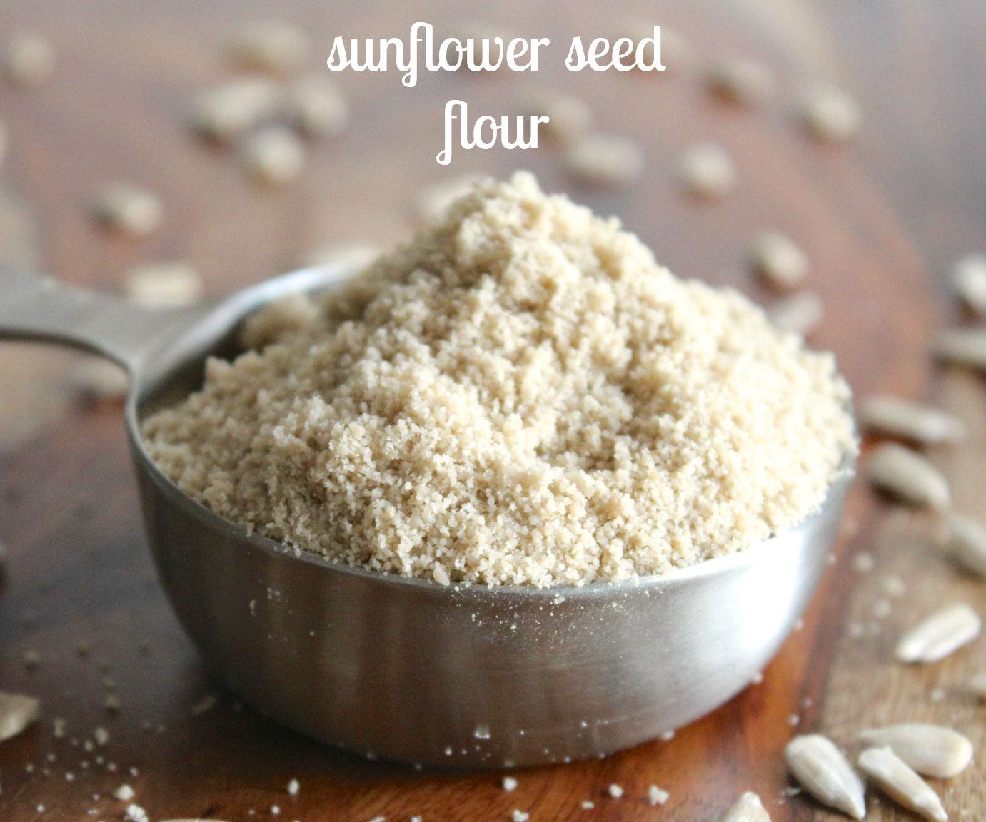 raw sunflower seed flour