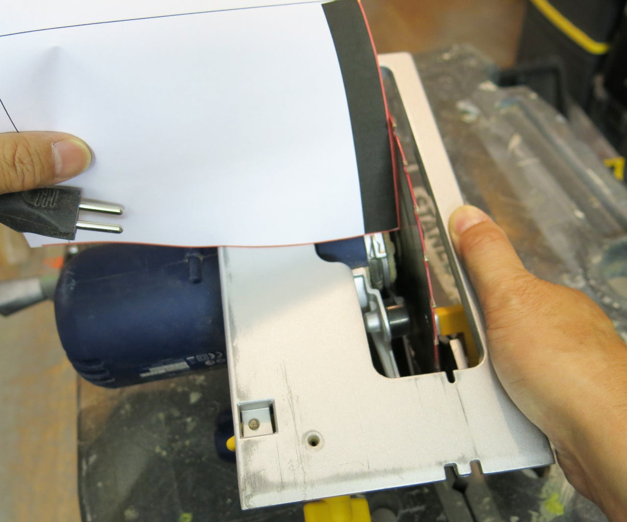 Setting the Disc Saw for Slanted Cuts