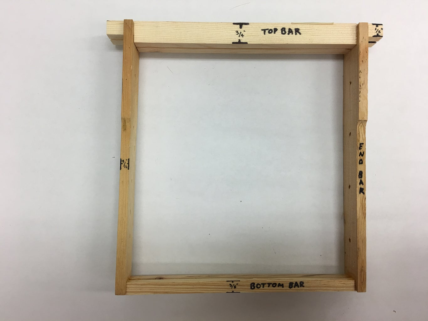 Frames With Wedge Top and And Split Bottom