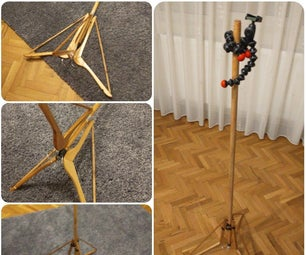 Cheapest, Simplest DIY, Light-duty Tripod Made of Things You Have Around (mop/broom Handle, Clothes Hangers, Nutr, Bolts)