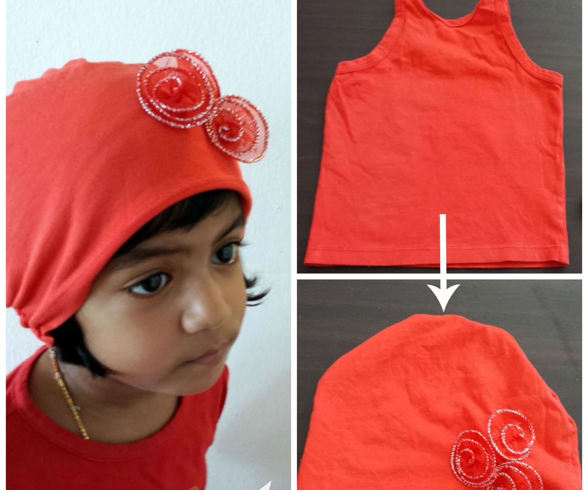 Make Baby Hat from old Tank Top