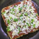 Double Decker Bread Pizza on Stovetop