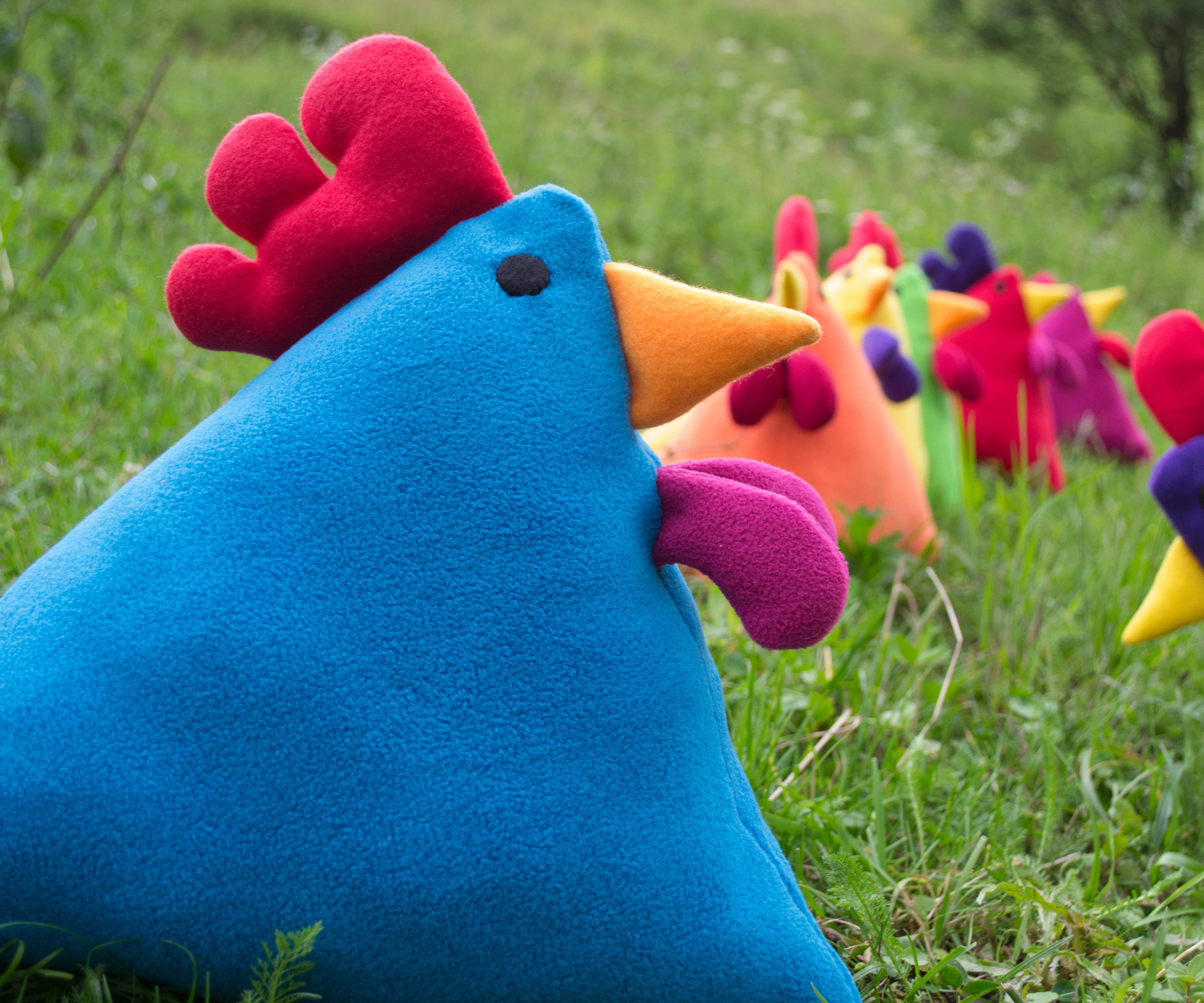 Rainbow Chicken Pillow