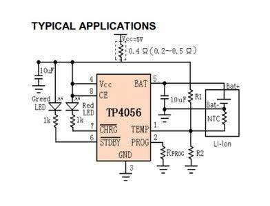 TP4056 Li-lon Battery Charger
