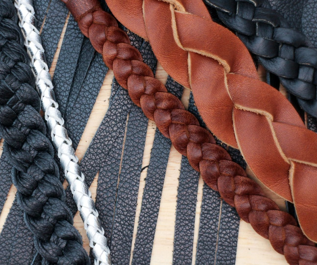 Making Leather Braids
