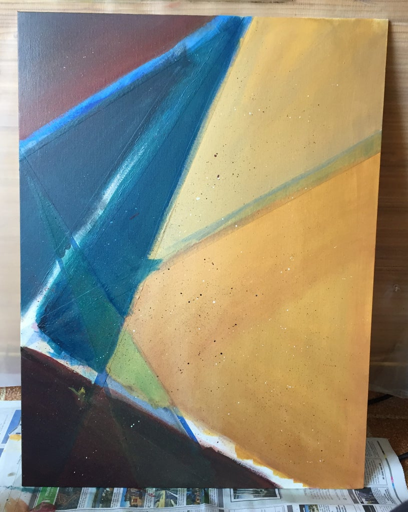 Making An Abstract Painting With Masking Tape 7 Steps With Pictures Instructables