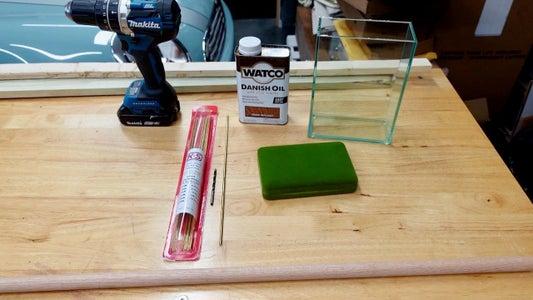 Cut Brass and Wood Dowel