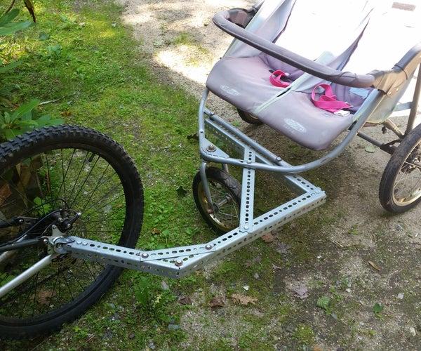 Jogging Stroller / Bike Trailer Hack / Conversion
