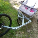 Jogging stroller / bike trailer hack / conversion