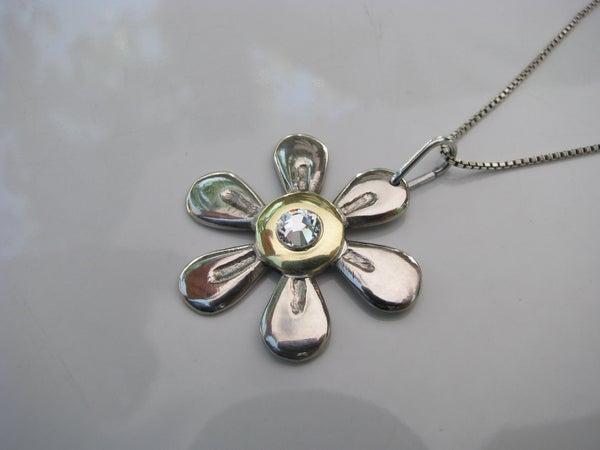 Six Petal Flower Pendant