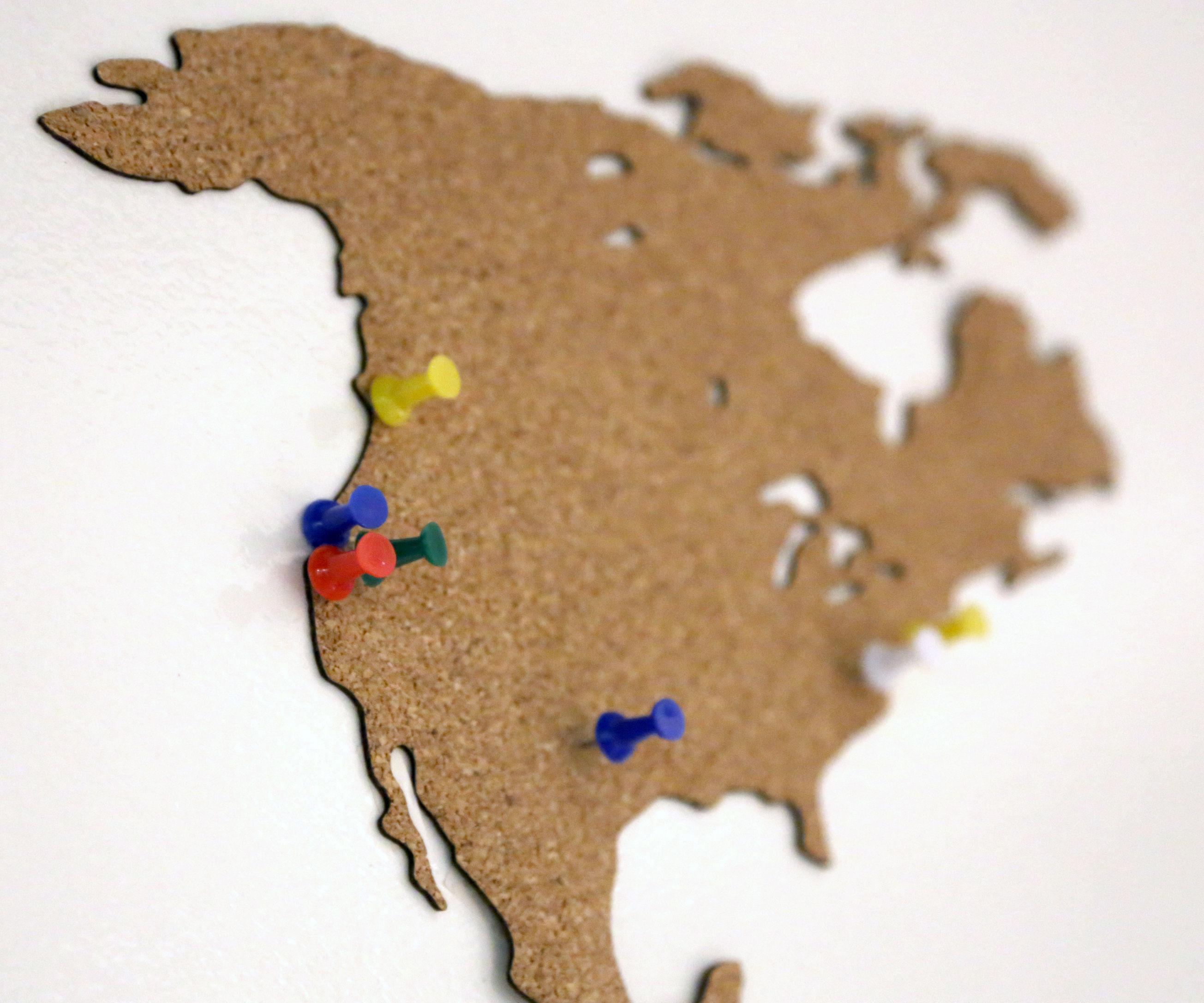 Corkmap - Lasercutting cork