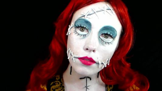 Sally the Ragdoll (Nightmare Before Christmas) Makeup Tutorial