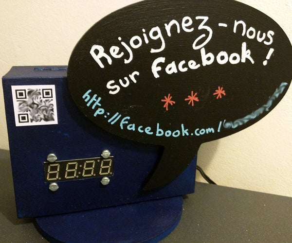 Facebook Page Likes Counter Display (with Particle Photon)