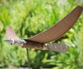Bird Sculpture From Junk