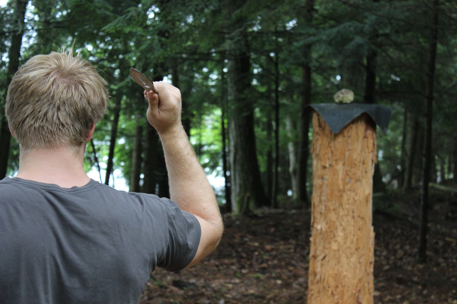 Throwing Stance and Knife Grip
