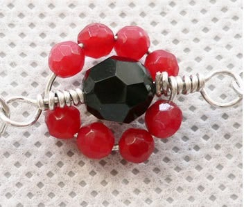 How to Make Flower Shaped Wire Wrapped Loop Link Unit to Form a Bracelet