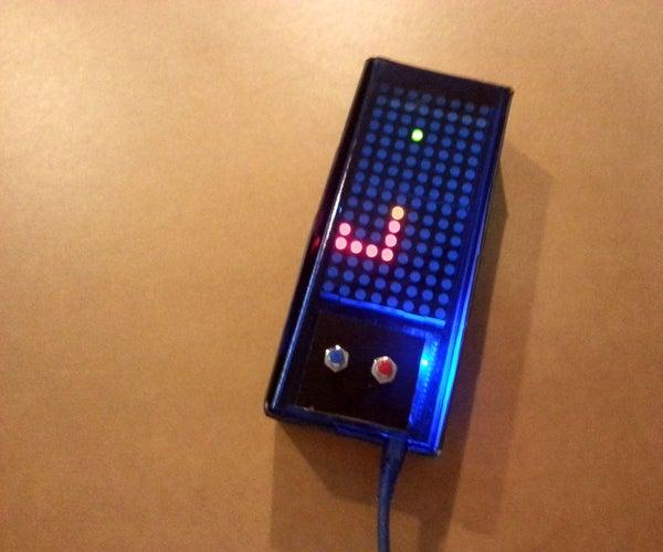 Arduino Based Bi-color LED Matrix Snake Game
