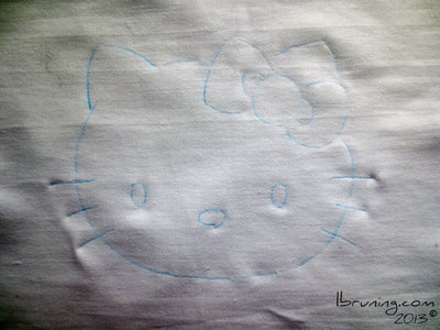 Trace Hello Kitty to Your Fabric