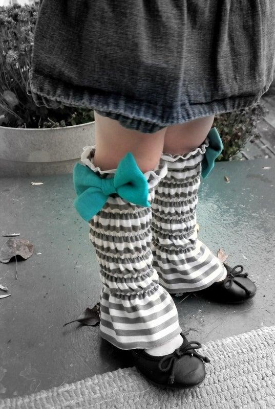 Shirred Bow Legwarmers