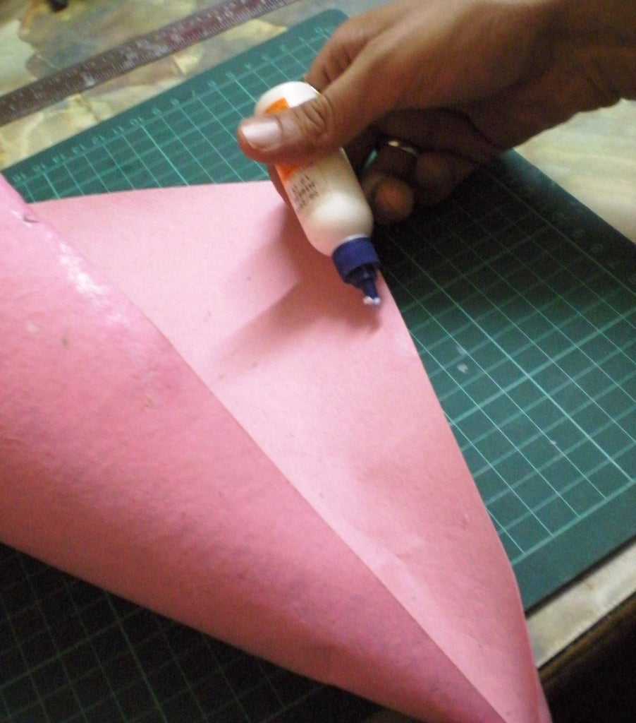 Glue the Wrapping Paper