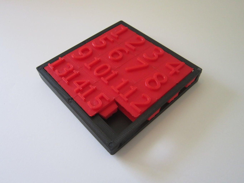 3D Printed Sliding Tile Puzzle