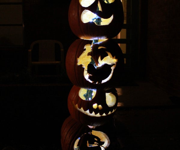 Make a Pumpkin Totem Pole in Less Than 2 Hours