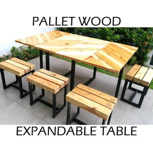 Pallet Wood Table With Hand-held Tools