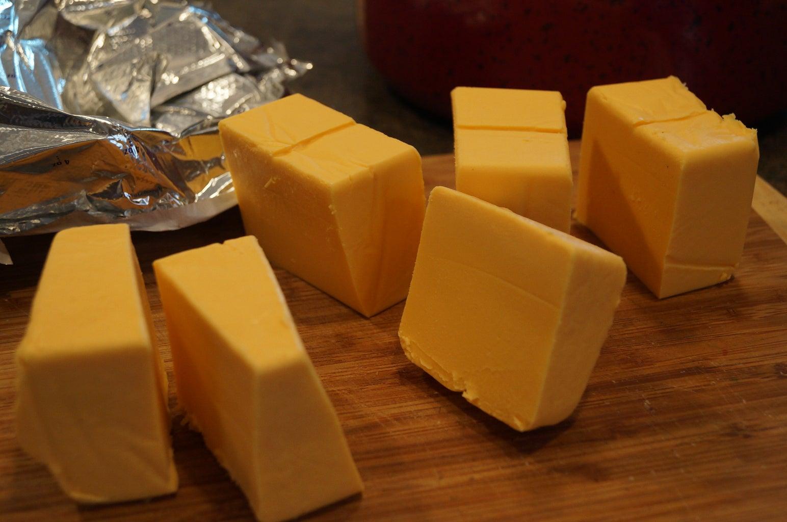 Cut Up  Velvetta Cheese