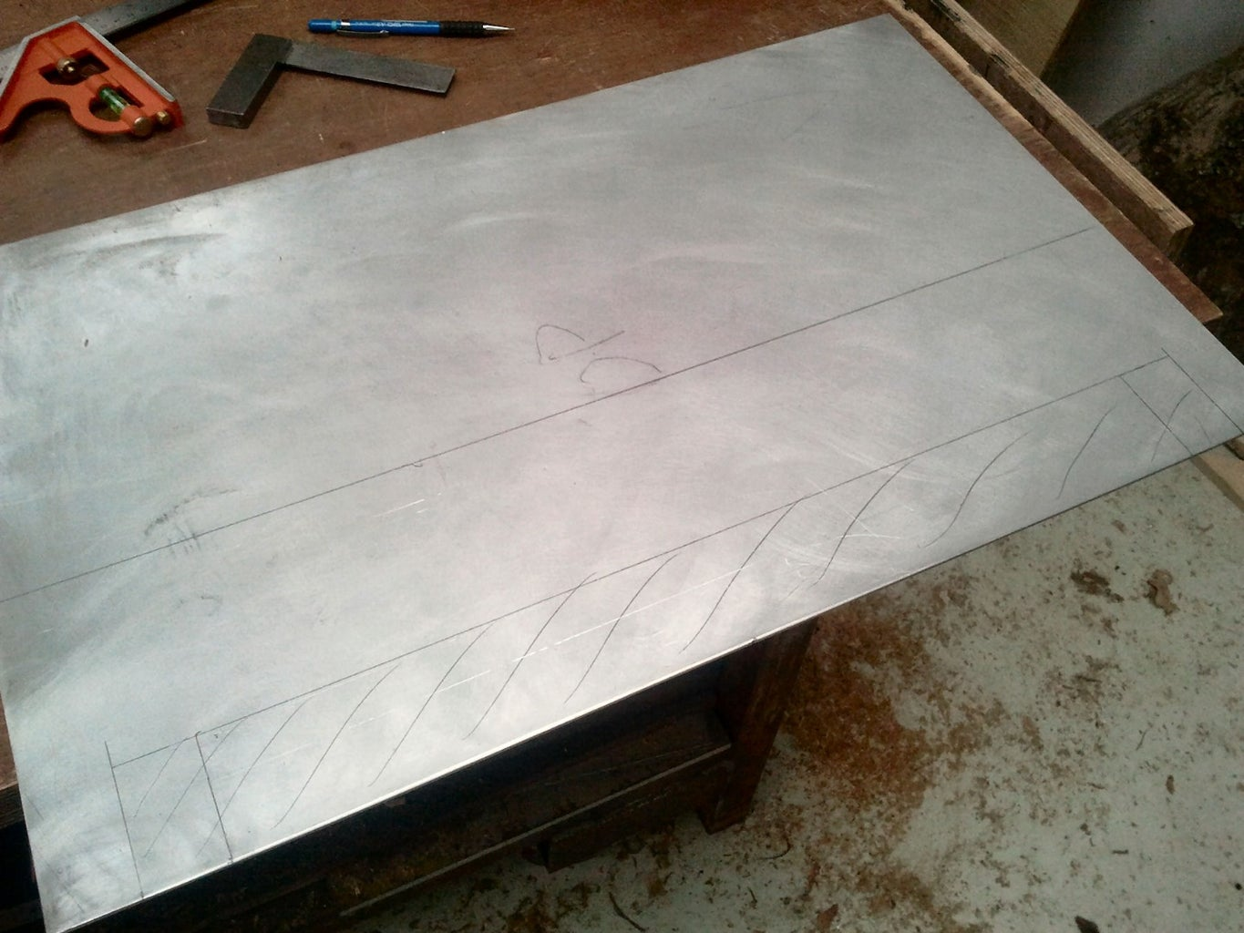 Laminating a Work Table