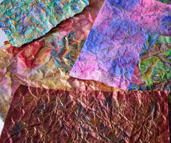 Brown Paper 'Fabric' Art