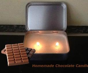 Homemade Chocolate Candle!