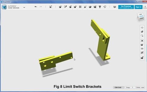 3D Parts Design - Limit Switch Brackets