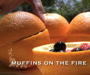 Orange Muffins on the Fire