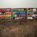DIY paint shelves