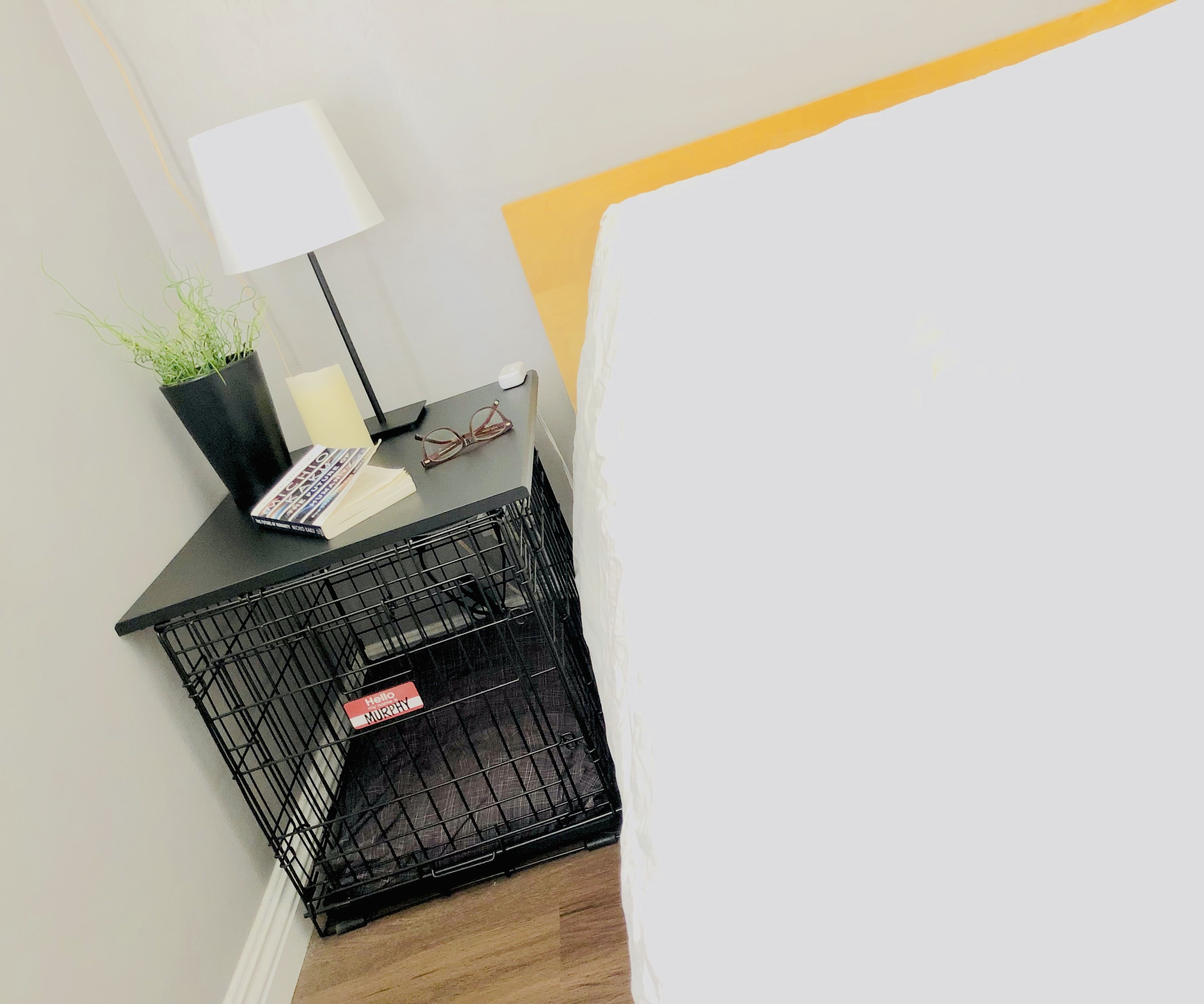Transform a Dog Crate Into a Side Table