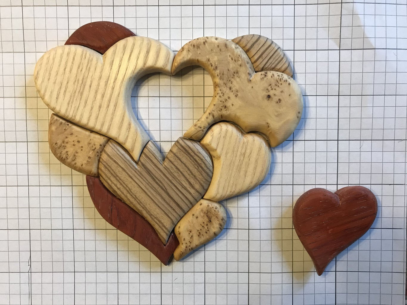 Making of the 3d Marquetry Heart