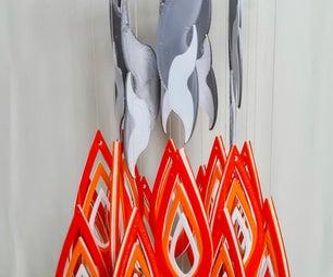 火焰风铃/手机(3D打印Tinkercad项目)