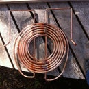 Heat Exchanger in a Wood Fired Hot Tub for a Shower