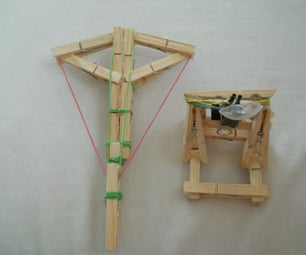 Mini Clothespin Catapult And Crossbow