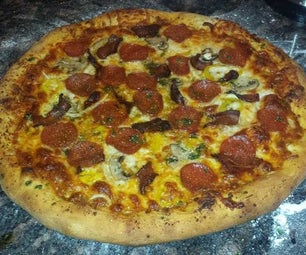 No Knead Pizza With Homemade Sauce