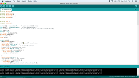 Program and Connect the Arduino