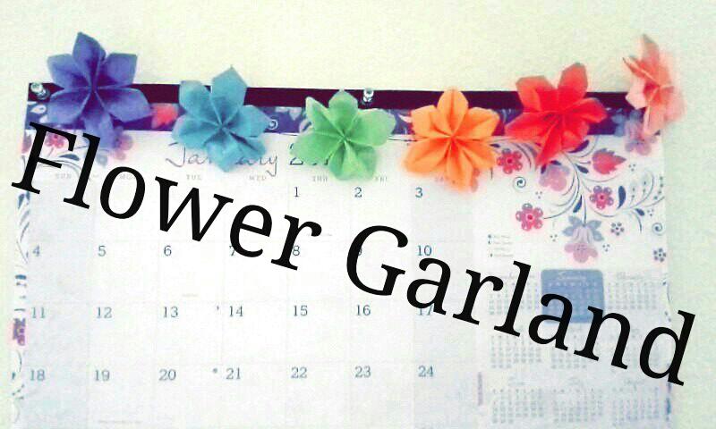 Origami Flower Garland