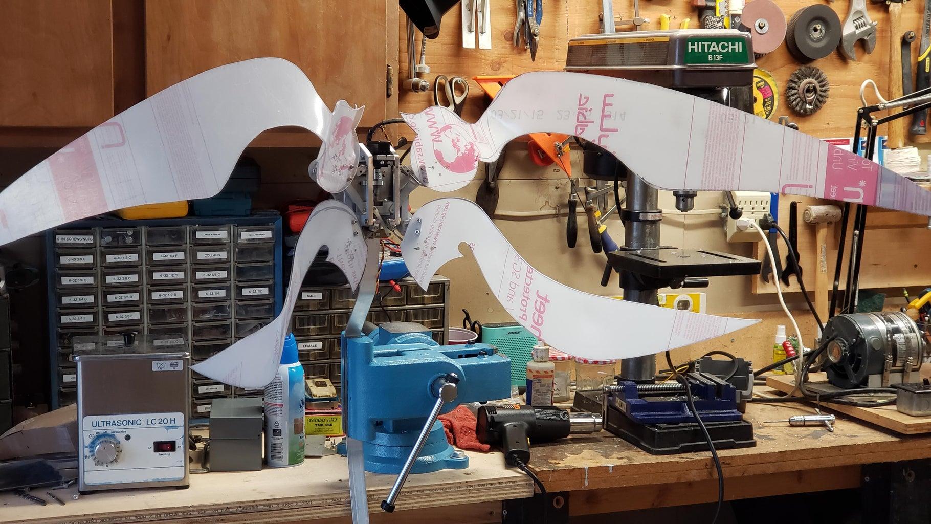 Animatronic Cosplay Wing Mechanics