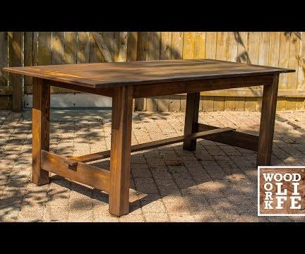Making a Dining Room Table Out of Bleachers